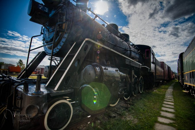 HDR of antique train