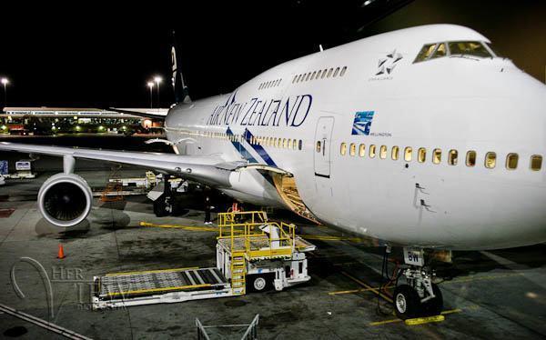 Photograph air new zealand plane