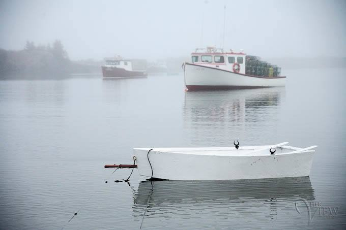 Another foggy day in the Maritimes.  Adds mystique with the fog doesn't it?  Image by Darlene