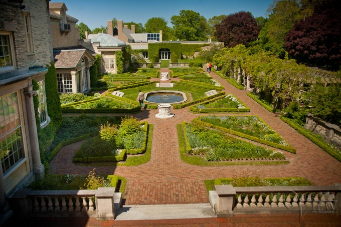 garden at the george eastman house
