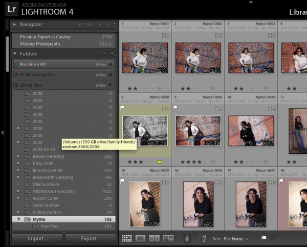 quickly and easily find your images with lightroom image processing software