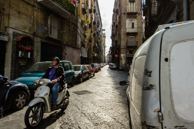 streets of naples campania southern italy