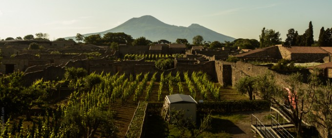 Travel photography of Pompeii