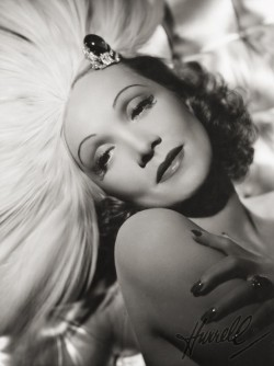 Marlene Dietrich by famous photographer George Hurrell