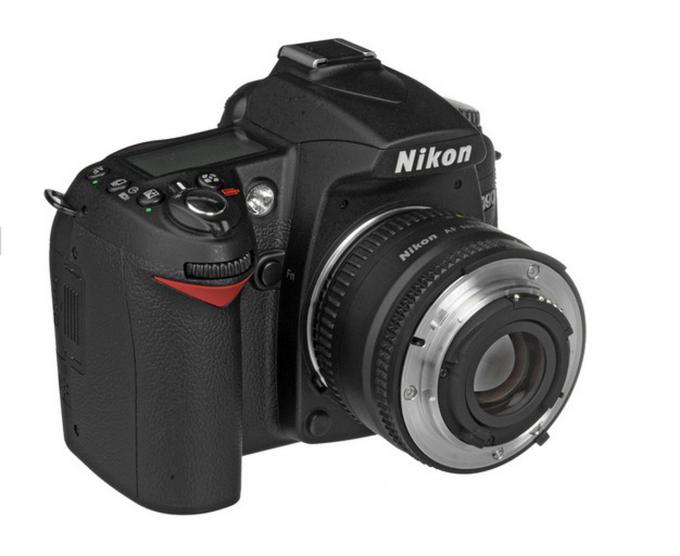 Nikon with lens mounted backwards