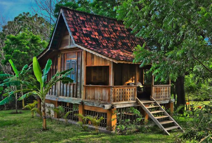 Village hut Pemuteran Bay, Bali Indonesia