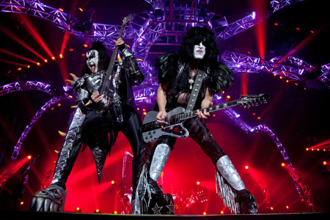 Gene Simmons, left, and Paul Stanley of KISS rock out to over 8,000 fans at the Halifax Metro Centre on Thursday night. See metronews.ca for a slideshow of pictures from the concert. (Jeff Harper/Metro)
