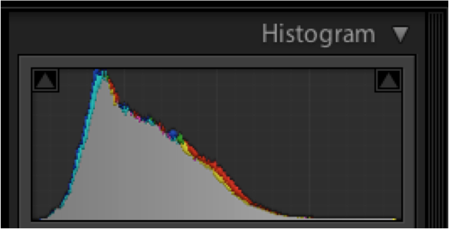Notice the histogram is mostly in the middle but we know the cat is black and the scene dark so this is incorrect.
