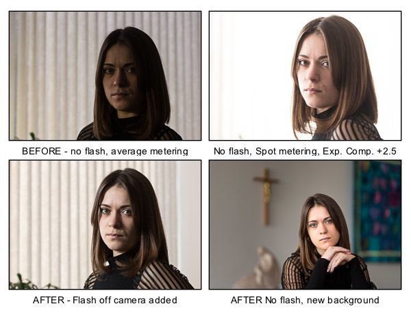 Backlighting portrait tips