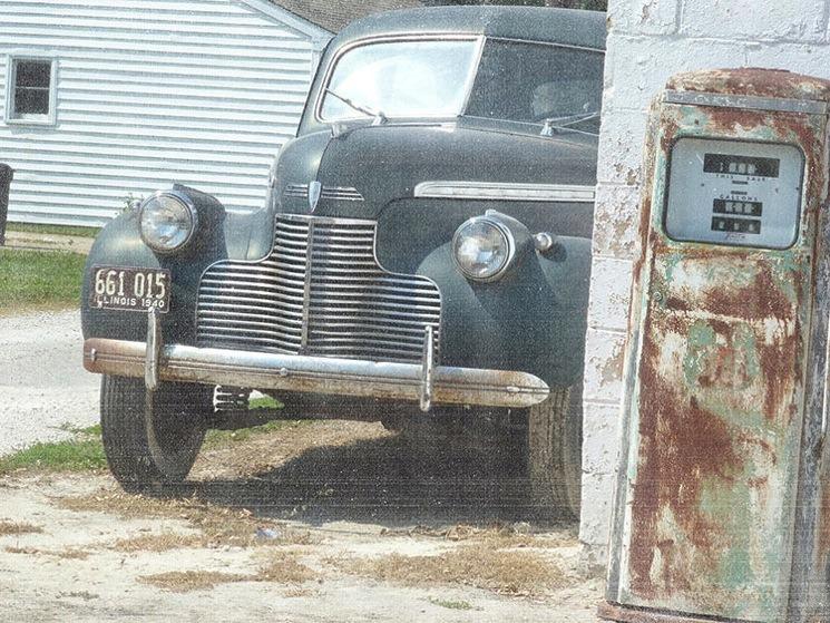 Vintage car 2d