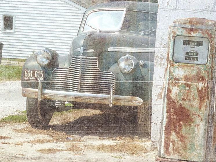 Vintage car 4d