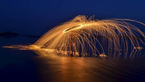 night photography fire spinning nicaragua by christine