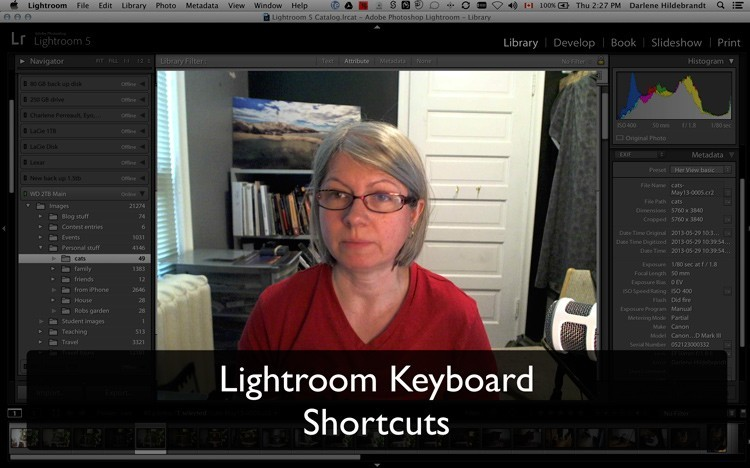 Using Lightroom Keyboard Shortcuts