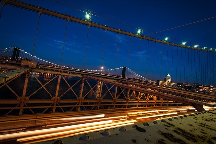 NYC brooklynbridge car trails image added