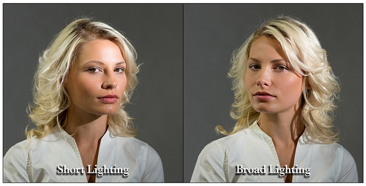 broad short lighting pattern for portraits