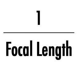 one over the focal length photography rule to eliminate camera shake