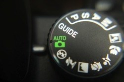 image of a digital cameras controls set on auto