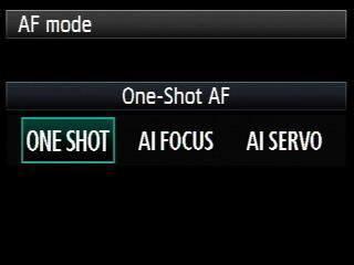 modos de foco canon para fotos nítidas
