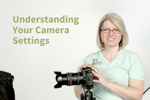 Class instructor teaches camera settings