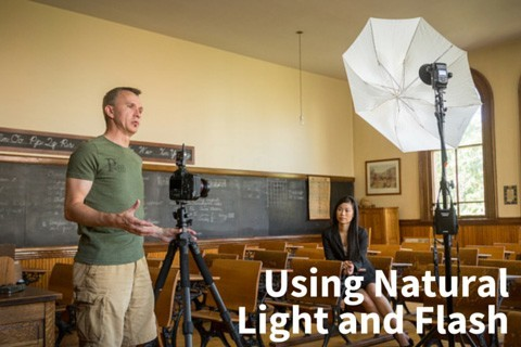 working with natural light and flash