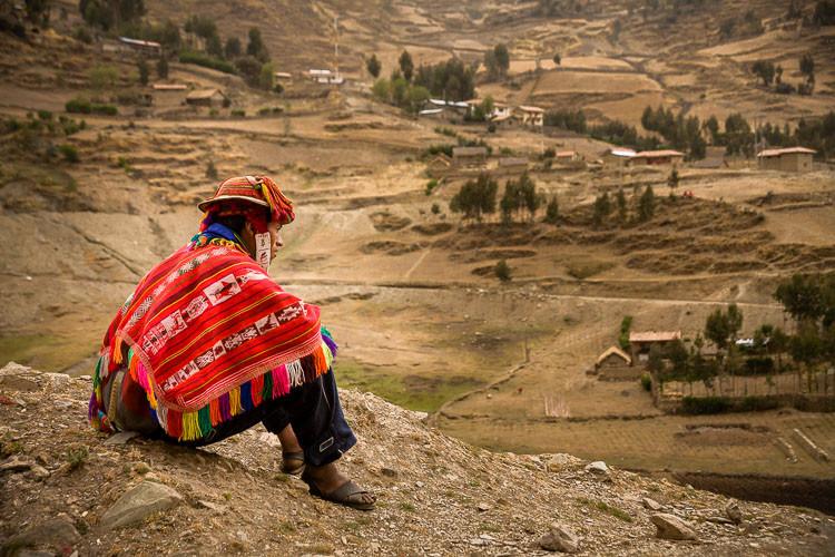 Farmer in remote village, Peru