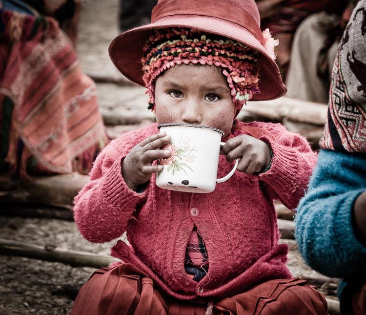 Young Peruvian girl in mountain village, Peru.