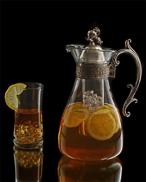Antique iced tea glassware photograph