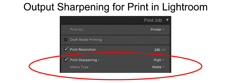 Output Sharpening - Lightroom Print module