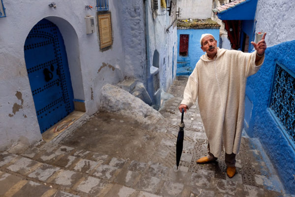 Our Moroccan guide in the blue city