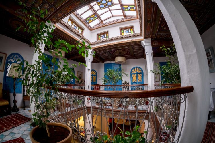 inside view of riad charifa in Chefchaouen