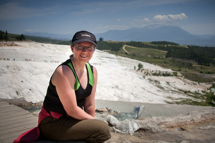 Taken by a lovely Russian photographer I met at Pamukkale in Turkey. We took each other's photos.