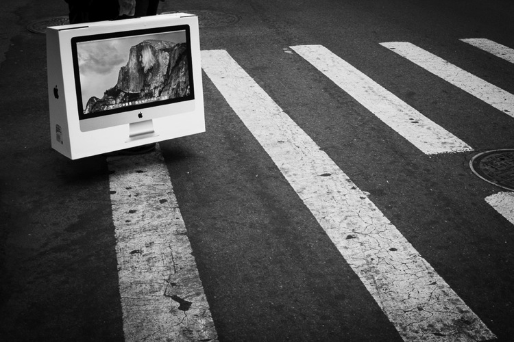 Street Photo of an imac on a crosswalk