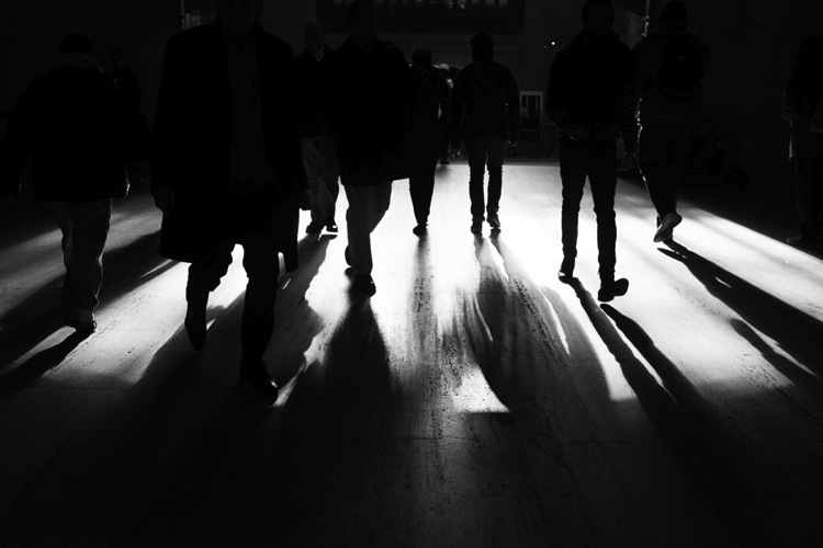 Shadows in Grand Central Station