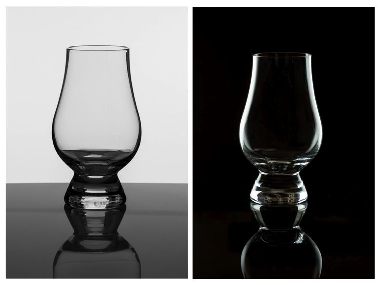 Tips for Photographing Glassware on both Black and White Backgrounds