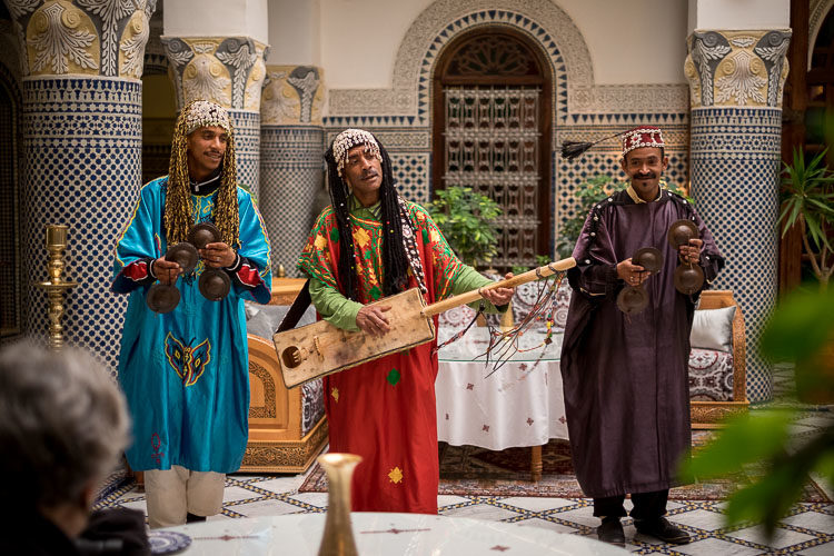 Gnawa musicians in Fes