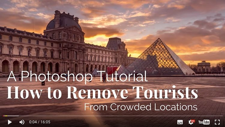 Photoshop Tutorial – How to Remove Tourists From Crowded Locations