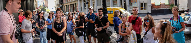 Taken with my Fuji X-T1 in pano mode. James getting us all started at the beginning of our walk.