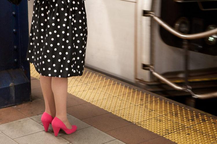 Polka Dots and Pink Shoes, Subway, 2012.
