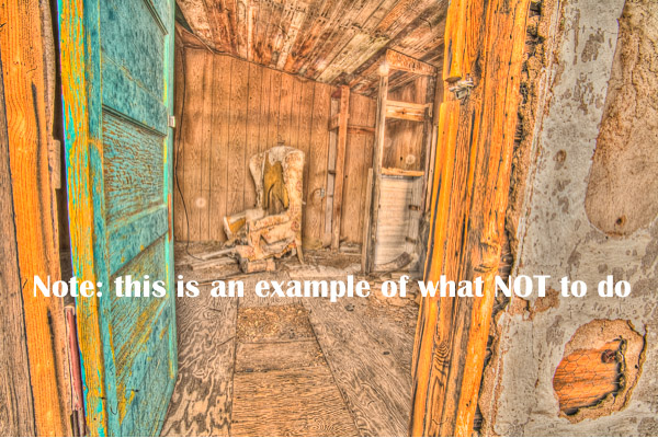 example of bad HDR photography processing