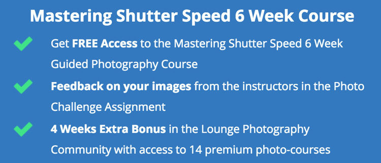 mastering shutter speed photography video course