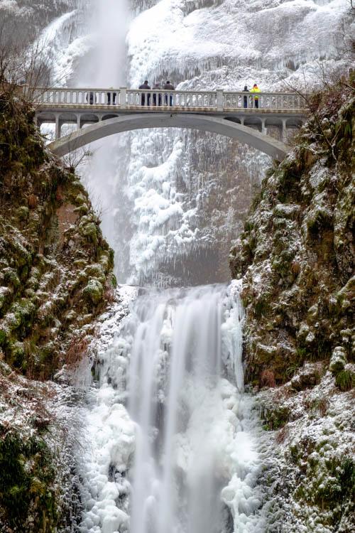 Multnomah Falls - waterfall photography example