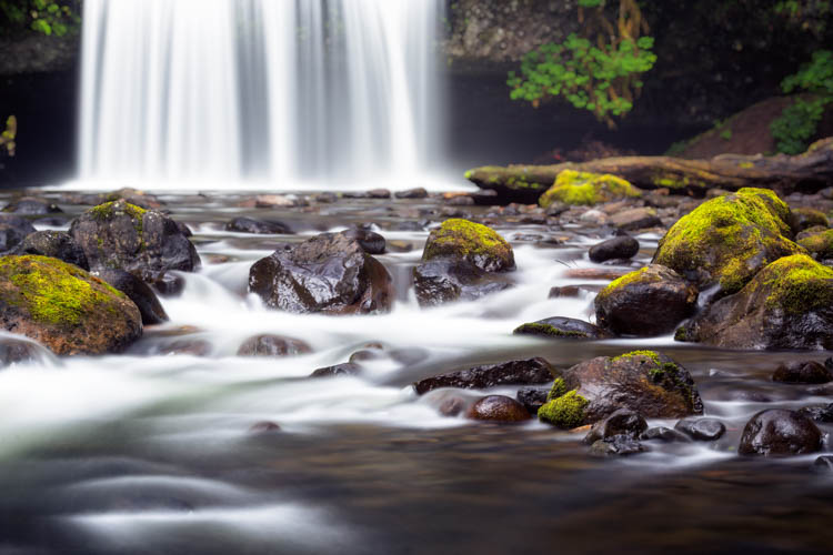 waterfall photography telephoto lens example