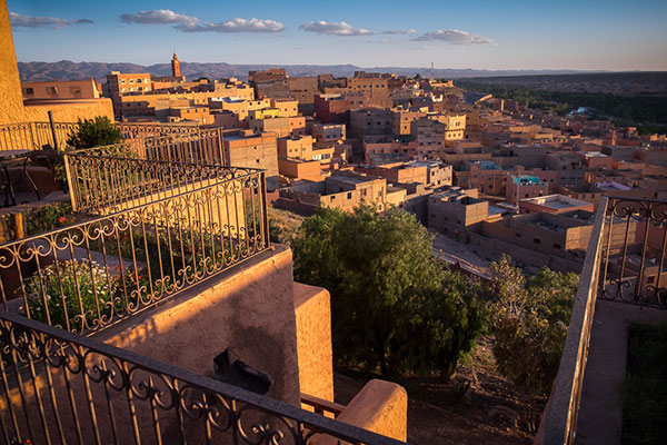 The view from the balcony of our accommodations at Hotel Xaluca Dades during our 14 day photo tour of Morocco