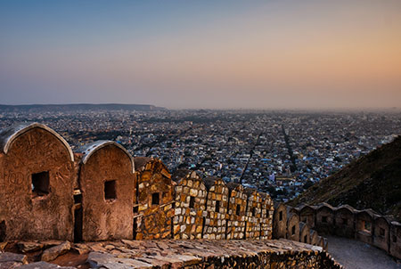 Panoramic View of Jaipur from the Fort Nahargarh