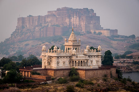 Jaswant Thada Memorial and the Mehrangarh Fort in Jodphur