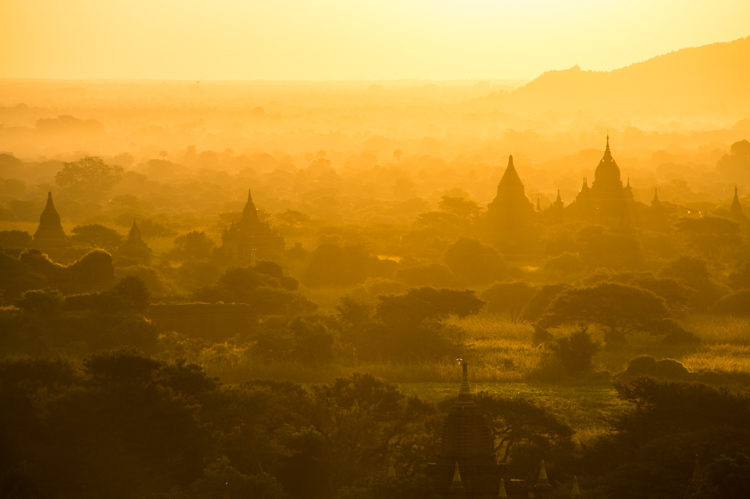 Sunrise in Bagan Myanmar
