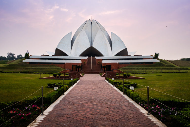 Lotus Temple in Delhi India