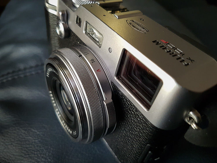 Pack a small camera when traveling like this Fuji X100f mirrorless camera