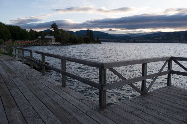 low contrast scene of a lake waterfront using unedited raw file