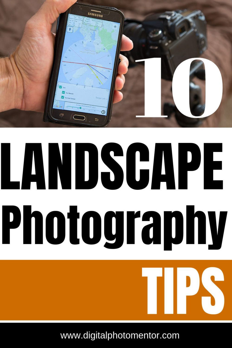 10 landscape photography tips for better photos pinnable image